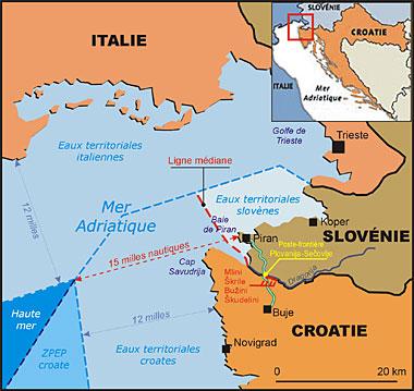 Croatie   Slovénie   Zagreb réclame un arbitrage international