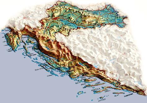 Carte Altitude Croatie.Carte De La Croatie Ambassade De Croatie En France