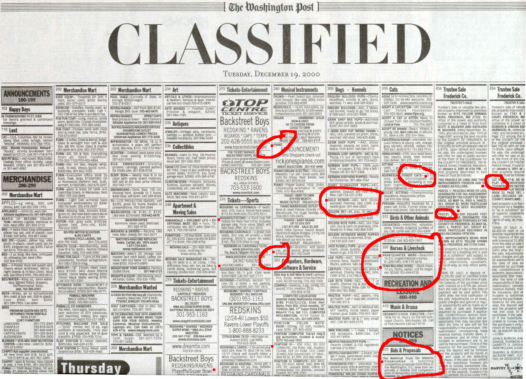 times free classifieds ads